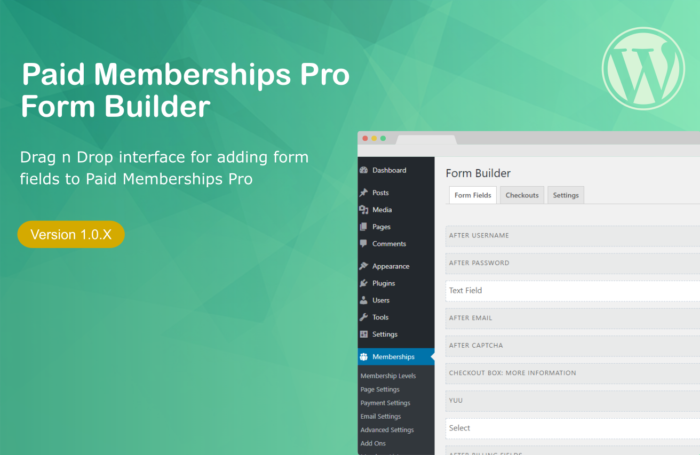 paid memberships pro form builder